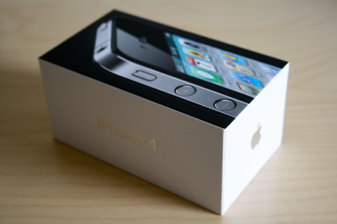 iphone 4 box packaging