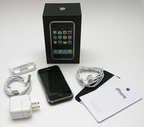 first-generation iphone box packaging