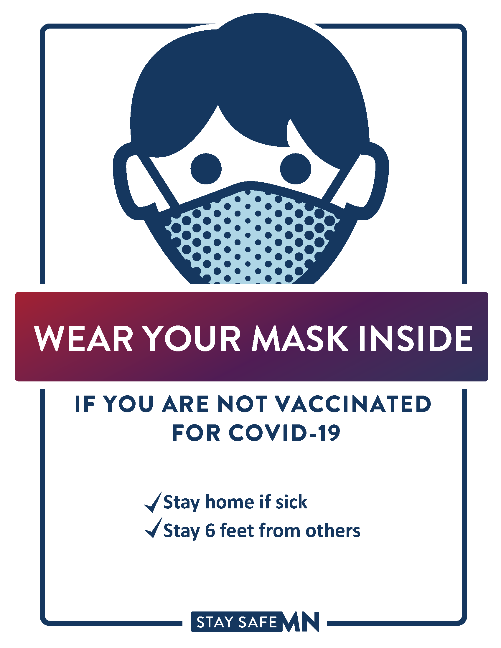 downloadable mask required signs template