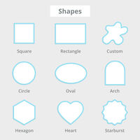 Cut-to-Size Stickers Shapes