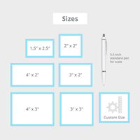 Cut-to-Size Stickers Sizes