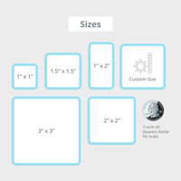 Roll Stickers Sizes