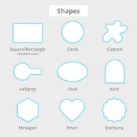 Roll Stickers Shapes