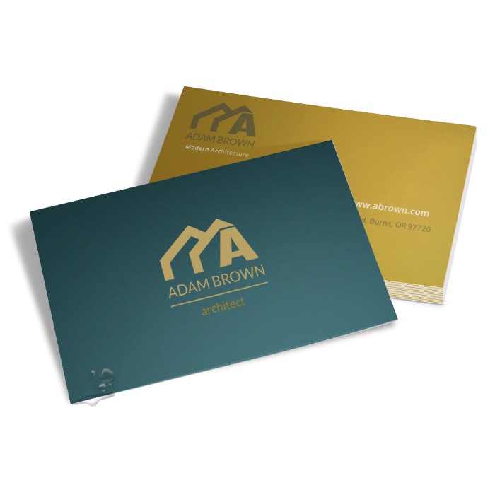 Double sided business cards 450gsm silk matt laminated FREE DELIVERY