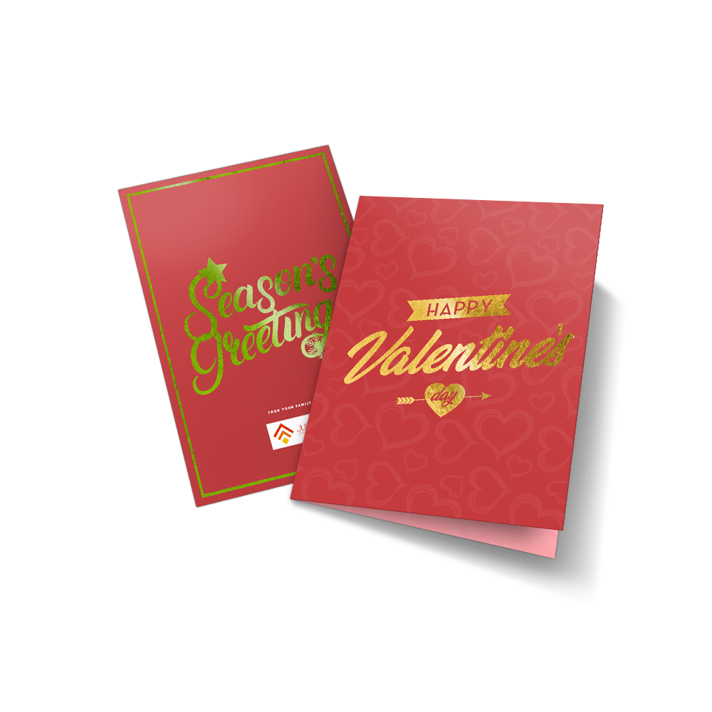 Metallic Greeting Cards